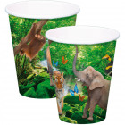 Safari Party Cups 250ml - 8 pieces