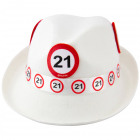21 Año camino blanco Sombrero Trilby