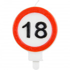 18 Years Traffic sign Candle