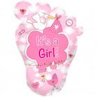 Baba Foot Ez egy lány! születési léggömb