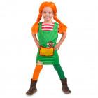 Red Plait Girl Dress Child Size M