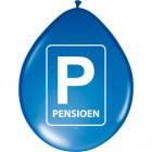 Pensioen Parkeerbord Ballonnen - 8 stuks