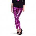 Pink Metallic Leggings Mermaid