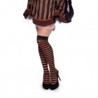 Brown-Black Striped Stockings