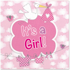 Birth Girl Napkins It's a Girl - 20 pieces