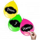 Writable Balloons Neon Multicolor - 6 pieces