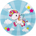 Unicorn plate 23cm - 8 pieces