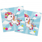 Unicorn Napkins 33x33cm - 20 pieces