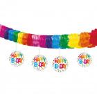 Banner Dangling cutouts Rainbow Dot