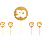 Cake Topper 50 arany