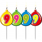 Candle number 9 Happy Birthday Balloon shape