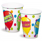 Happy Birthday Party Cups - 6 pieces