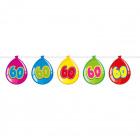 60 Año cumpleaños hincha Garland - 10 metros