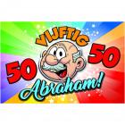 3D Sign PVC Abraham Rainbow