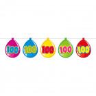 100 Years Birthday Balloons Garland - 10 meters