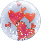 Floating Hearts Bubbles Balloon 61cm
