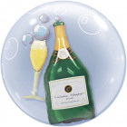 Champagne Bottle Bubbles Balloon 61cm