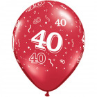 40 Years Balloons Ruby Red 28cm - 25 pieces