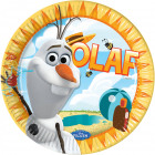 Olaf frozen plate - 8 pieces