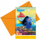 Disney Finding Dory Invitations - 6 pieces