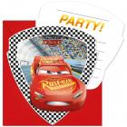 Cars 3 Invitations - 6 pieces