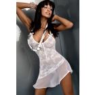 Camicia da notte Inez White JS 3301 taglia - S / M