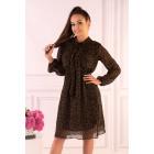 Sukienka Alinga Brown Dots F19-D68
