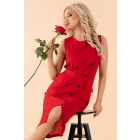 Kleid Eqalisa Wine Red D55