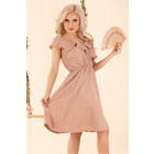 Violayam Beige D91 Kleid