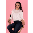 Hiron White B34 blouse