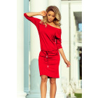 A sporty dress made of viscose - red