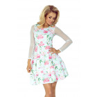 141-5 Dress with TIULOWIE sleeves - ROSE