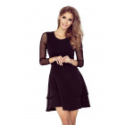 141-6 Dress with TULL sleeves - BLACK