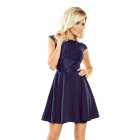 157-1 MARTA dress with lace - NAVY