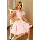 157-4 MARTA dress with lace - PASTEL ROSE