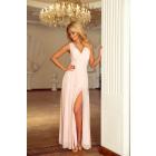 166-4 MAXI chiffon dress with slit