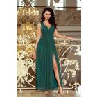 166-5 MAXI chiffon long dress with slit