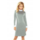 167-1 Sweater Dress with a T-shirt - gray