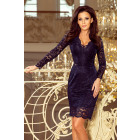 170-7 Lace dress with long sleeves