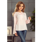 181-4 Blouse with flared sleeve - BRZOSK