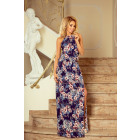 191-2 MAXI dress tied at the neck with a slit
