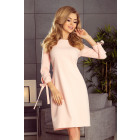 195-2 ALICE Dress with bows - PASTEL ROSE