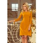 195-6 ALICE Dress with bows - MUSTARD