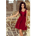208-3 Dress with lace neckline