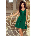 208-4 Dress with lace neckline