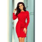 209-6 Dress with a wide tied STRIP