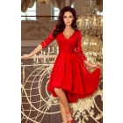 210-6 NICOLLE - dress with longer back with lace