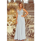 215-1 LEA long sleeveless dress with embroidered