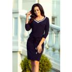 224-1 Sporty dress with welt - NAVY