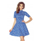 MM 011-1 Dress with a semi-golf and short sleeves